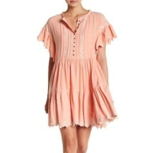 NWT Free People Santiago Embroidered Dress Size M